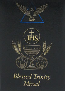 BLACK BLESSED TRINITY MISSAL AND PRAYER BOOK  #2639