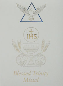 WHITE BLESSED TRINITY MISSAL AND PRAYER BOOK #2638