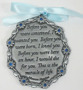A GIFT OF LOVE CRIB MEDAL No. CM12