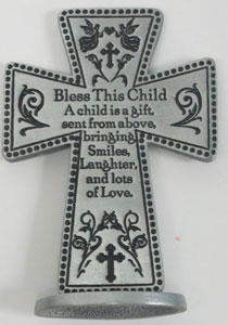 BLESS THIS CHILD STANDING CROSS No. SQP103