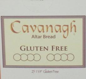 CAVANAGH COMMUNION HOST GLUTEN FREE 1 3/8 inch
