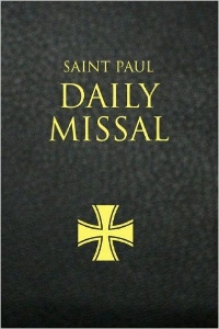 THE SAINT PAUL DAILY MISSAL prepared by the Daughters of St. Paul. Black Leatherflex