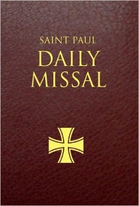 THE SAINT PAUL DAILY MISSAL prepared by the Daughters of St. Paul. Burgundy Leatherflex