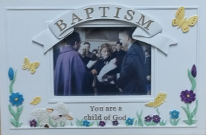 "'YOU ARE A CHILD OF GOD""  BAPTISMAL PICTURE FRAME"