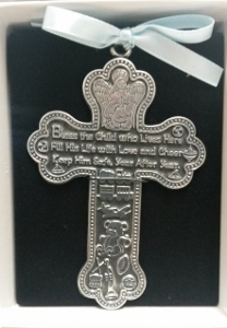 PEWTER CRIB CROSS No. CM6