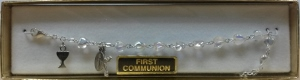 CLEAR HEART SHAPED FIRST COMMUNION BRACELET Silver No. 48-3015-FC