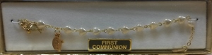 PEARL HEART  FIRST COMMUNION BRACELET Gold No. 48-3-13-FC