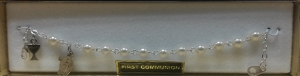 PEARL FIRST COMMUNION BRACELET Silver No. 48-3010-FC