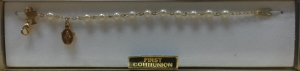 ROUND PEARL FIRST COMMUNION BRACELET Gold No. 48-3011-FC