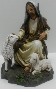 GOOD SHEPHERD STATUE (sitting) #27014