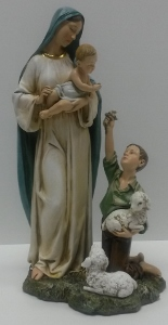 SHEPHERD BOY WITH BLESSED MOTHER #46616