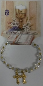 FIRST COMMUNION BRACELET No. 48-3034