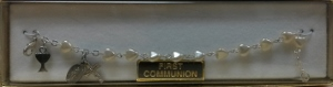 PEARL HEART FIRST COMMUNION BRACELET SILVER No. 48-3012-FC